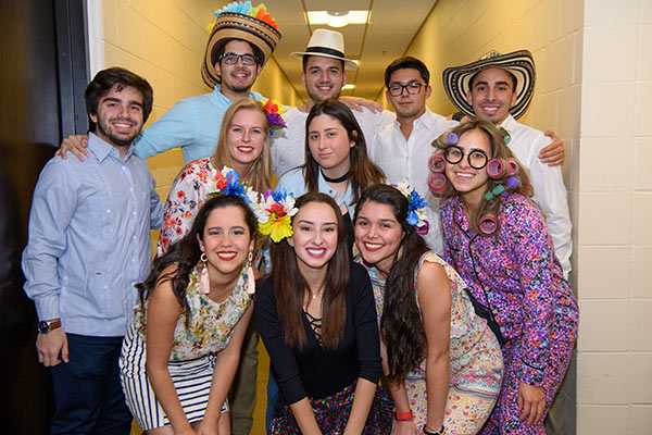 group of students at international night