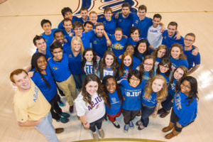 Student association leaders posing in a group