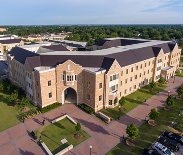 aerial of hardesty hall