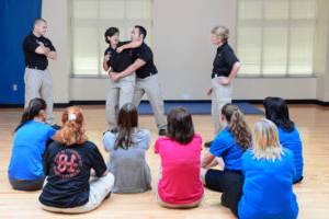 picture of students observing in a personal defense class