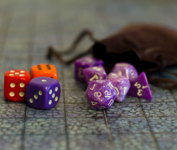 dice used to play role play board games